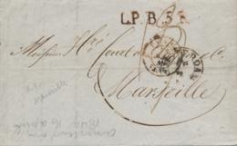Nederland - 1849 - Complete Vouwbrief Van Amsterdam - LPB5R - Naar Marseille / France - Niederlande