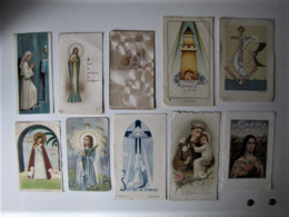 LOT DE 10 IMAGES PIEUSES - Devotion Images