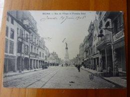 CPA REIMS, RUE DE L'ETAPE ET FONTAINE SUBE - Reims