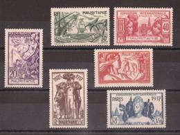 Mauritanie - 1937 - N° 66 à 71 - Neufs ** - Exposition Internationale De Paris - Mauritanie (1906-1944)