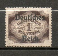 BAVIERE Service 1m Brun 1920 N°55 - Bayern