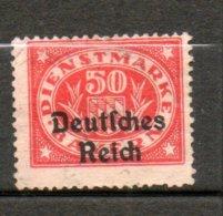 BAVIERE Service 50p Vermillon 1920 N°49 - Bayern