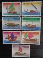 VIETNAM 1988 Y&T N° 948A à 948G ** - VOILIERS INDIGENES - Vietnam
