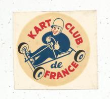 Autocollant ,KART CLUB DE FRANCE ,automobile - Autocollants