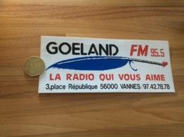 AUTOCOLLANT, Sticker «GOÉLAND 95.5 FM - LA RADIO QUI VOUS AIME - VANNES (56)» - Pegatinas