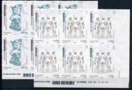 RC 14046 FRANCE N° 633 / 634 SCULPTEUR BOURDELLE ET MAILLOL COIN DATÉ AUTOADHÉSIF COTE 90€ NEUF ** - France