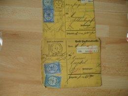1879 Sur Recu Mulhouse Mullhausen Lot De 2 , Timbre Fiscal Sur Recu - Poststempel (Briefe)