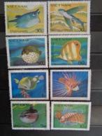 VIETNAM 1984 Y&T N° 505A à 505H ** - FAUNE, POISSONS ETRANGES ( EMIS SANS GOMME ) - Vietnam