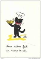 Carte Postale Chat Habillé En Cuisinier Par Biz Trés Beau Plan - Cats
