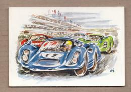 CPSM 72 LE MANS LES 24 HEURES DU MANS Le Départ Est Donné !... TB DESSIN AUTOMOBILE De COURSE TB Verso Pub. - Le Mans