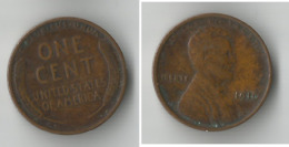 USA 1 CENT 1910 - 1909-1958: Lincoln, Wheat Ears Reverse