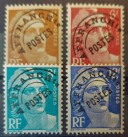 FRANCE 1922/47 - MNH - YT 99, 100, 101, 103 - Préoblitérés - Preobliterati