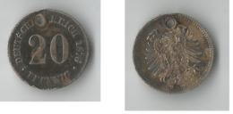 ALLEMAGNE 20 PFENNIG 1876 ARGENT - [ 2] 1871-1918: Deutsches Kaiserreich
