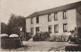 Chastellux-sur-Cure  89  Café-Restaurant De La Bourgogne-pres Lac De Crescent-Animé-Voiture Et Pompe A Essence - Frankreich