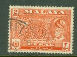 Malaya - Perak: 1957/61   Sultan Yussuf 'Izzuddin Shah - Pictorial   SG151    2c   Orange-red  Used - Perak