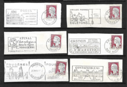 FRANCE 1960   Lot 6  Timbres N° 1263 +  Flamme Sur Fragment - Andere