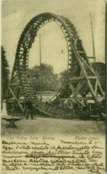 LONDON - CRYSTAL PALACE - THE TOPSY TURVY RAILWAY - MAILED TO ITALY 1902  (BG4305) - Londen