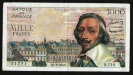 FRANCE 1000 FRANCS 1955 PICK #134a - 1871-1952 Antichi Franchi Circolanti Nel XX Secolo