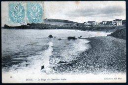 Bône Plage Du Cimetière Arabe Méditerranée  Cachet Bugeaud Constantine 15 05 1905 Sur Paire 5 C Blanc Rare TB - Algerien