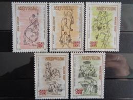 VIETNAM 1989 Y&T N° 1004 à 1008 ** - SCENES VILLAGEOISES - Vietnam