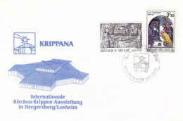 BUSTA  F.D.C. - BELGIO - KRIPPANA - INTERNATIONALE - KIRCHEN-KRIPPEN-AUSSTELLUNG IN HERGERSBERG/LOSHEIM - FDC
