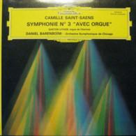 """* LP *  SAINT-SAENS - SYMPHONIE No.3 """" AVEC ORGUE""""  - CHICAGO SYMPHONY ORCHESTRA / BARENBOIM - Klassiekers"""