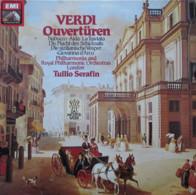 * LP *  VERDI - OUVERTÜREN - ROYAL PHILHARMONIC ORCHESTRA LONDON / TULLIO SERAFIN (Germany 1960 EX!!) - Klassiekers