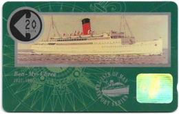 Isle Of Man - Ships - Ben-My-Chree - 10IOMC - 1991, 6.000ex, Used - Isola Di Man