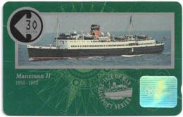 Isle Of Man - Ships - Manxman II - 10IOMB - 1991, 5.839ex, Used - Isola Di Man