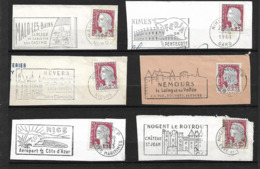 FRANCE 1960   Lot 6  Timbres N° 1263 +  Flamme Sur Fragment - Autres