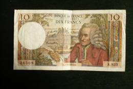 Billet 10fr Voltaire 1972 - 1962-1997 ''Francs''