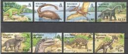 A472 SOLOMON ISLANDS FAUNA PREHISTORIC ANIMALS DINOSAURS #1305-12 1SET !!! MICHEL 12 EURO !!! MNH - Sellos