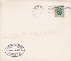 STORIA POSTALE - BELGIO - ANVERS - COTE OFFICIELLE DES LAINES PEIGNèES A TERME - VIAGGIATA PER ANTWEPEN - 1930 - FDC