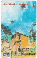 Malaysia (Uniphonekad) - Kampung, Seni Batik, 30USBB, 1995, 350.000ex, Used - Maleisië