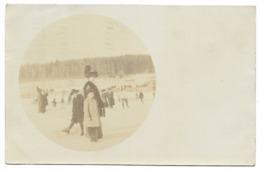 LAUSANNE-CARTE PHOTO-Patinage Sur Lac Gelé...1914 - VD Vaud