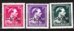 724N/P**  Leopold III Col Ouvert Surchargé -10% - ANVERS 1 - Série Complète - MNH** - LOOK!!!! - 1946 -10%