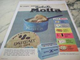 ANCIENNE PUBLICITE LES COUPES DELIZIEUSE GELATI DE MOTTA  1961 - Posters