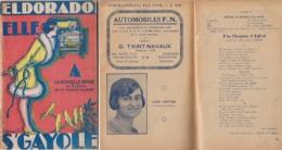 RARE   Charleroi Eldorado  Programme  1928 - Guerre 1914-18