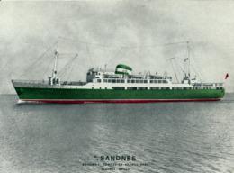 M.S. SANDNES  -  NORGE - Piroscafi