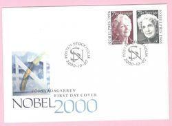 PRIX NOBEL PRIZE NOBELPREIS LITERATURE 1996 SZYMBORSKA 1966 SACHS - SWEDEN 2000 MI 2200 2201 FDC Slania Engraved - Nobel Prize Laureates