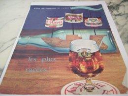 ANCIENNE PUBLICITE LES PLUS RACEES LA SLAVIA 1961 - Alcohols