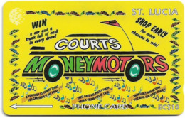 St. Lucia - Courts Money Motors - 23CSLA - 1995, 9.900ex, Used - St. Lucia
