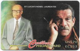 St. Lucia - St Lucia's Nobel Laureates - 233CSLA - 1995, 10.000ex, Used - Sainte Lucie