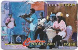 St. Lucia - Musicians Of St. Lucia - 22CSLA - 1995, 9.400ex, Used - Santa Lucía