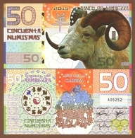 KAMBERRA 50 Numismas 2015 Polymer UNC. Year Of The Goat - Banknoten
