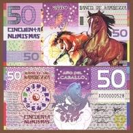 KAMBERRA 50 Numismas 2014 Polymer UNC. Year Of The Horse - Banknoten