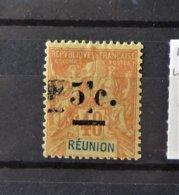 Réunion - N° 52 * - MH - Maculature Noire  - Cote : 8 Euros - Oblitérés