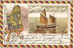 COTE BELGE - Barque De Pêche En Pleine Mer - Oblitération De 1904 - Editeur Jacques Brien - Zonnebeke