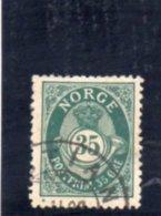 NORVEGE 1894-1907 O DENT 14.5x13.5 - Norvège