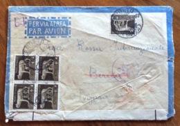 IMPERIALE Cent. 5 QUARTINA + UNO SU BUSTA PER L'ESTERO : DA CARDETO REGGIO CALABRIA A BERNA IN SVIZZERA IL 10/10/41 - 1900-44 Vittorio Emanuele III